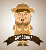 Boy scout design Royalty Free Stock Images
