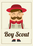 Boy scout design Royalty Free Stock Photography