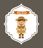 Boy scout design Stock Photo
