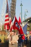 Boy scout en la gran inauguración Memphis Tennessee de Bass Pro Shop Imagen de archivo