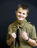 Boy scout fighter Royalty Free Stock Image