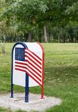 Boy Scout Flag Retirement Box. This Boy Scout Flag Retirement Box is in the Greater Ottumwa Park in Ottumwa, Iowa Stock Image