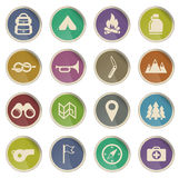 Boy Scout Label icons Royalty Free Stock Images
