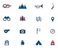 Boy scout simply icons Royalty Free Stock Images