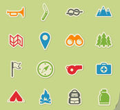 Boy scout simply icons Royalty Free Stock Image