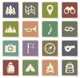 Boy scout simply icons Stock Photography