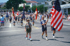 Boy scout troop color guard Royalty Free Stock Photo