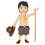 Boy Scout Vector Illustration Stock Photo