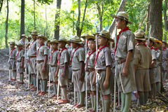 Boy Scouts camp Royalty Free Stock Images