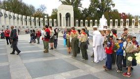 Boy Scouts Honoring Veterans Stock Image