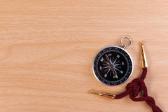 Boy scouts knot, the square knot and classic compass. Stock Photo