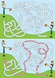 Boy scouts maze stock illustration
