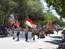 Boy Scouts in parade. 4th of July Morgan Hill, California stock images