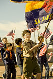 Boy Scouts in Parade Stock Photography