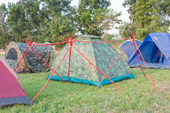 Boy scouts tents Stock Photography