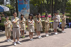 Boy scouts in Vietnam Royalty Free Stock Photos