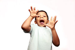 A boy screaming Stock Photos