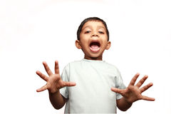 A boy screaming Royalty Free Stock Photography