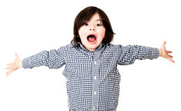 Boy screaming Stock Image