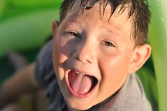 Boy screaming Royalty Free Stock Image