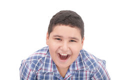 A boy screaming loud Stock Photos
