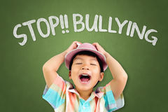 Boy is screaming loud to stop Bullying Royalty Free Stock Photo