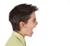 Boy screaming Stock Photo