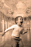 Boy screaming Royalty Free Stock Photography