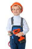 Boy with a screwdriver in his hand Stock Images