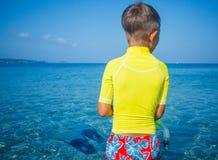 Boy scuba diving. Stock Photo