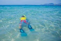 Boy scuba diving Stock Photo