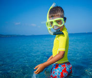 Boy scuba diving. Royalty Free Stock Images