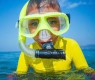 Boy scuba diving. Stock Image