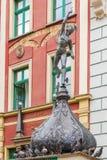 Boy sculpture in Gdansk Stock Images