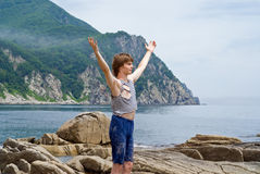 Boy at sea 13 Royalty Free Stock Photos
