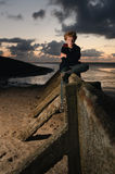 Boy by Sea Royalty Free Stock Image