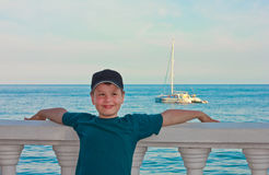 Boy and sea Stock Image
