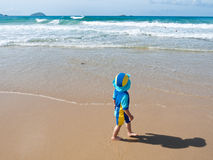 Boy and sea Royalty Free Stock Images
