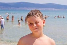 Boy at sea Royalty Free Stock Photos