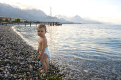Boy on the sea Stock Image