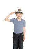 Boy in the sea cap Royalty Free Stock Photography