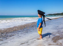 Boy by the sea Royalty Free Stock Photos