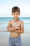 A boy at sea Stock Photos