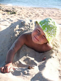 Boy on the sea shore Royalty Free Stock Photos