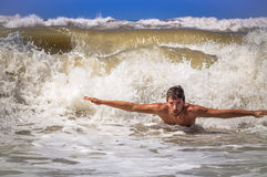 Boy and sea Stock Photo