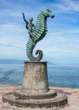 The Boy on the Seahorse. Puerto Vallarta, Mexico. The  Boy on the Seahorse statue by artist Rafael Zamarripa Castañeda Stock Photography