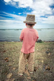 Boy at seaside Royalty Free Stock Photography