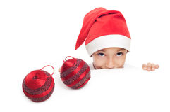Boy selebrating christmas Royalty Free Stock Photo