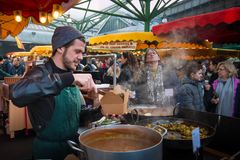 Borough Market, London. stock photo
