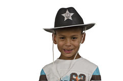 Boy Sheriff Royalty Free Stock Photography